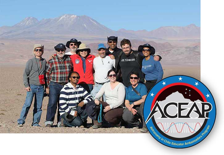 ACEAP: Astronomy in Chile Educator Ambassadors Program with group photo