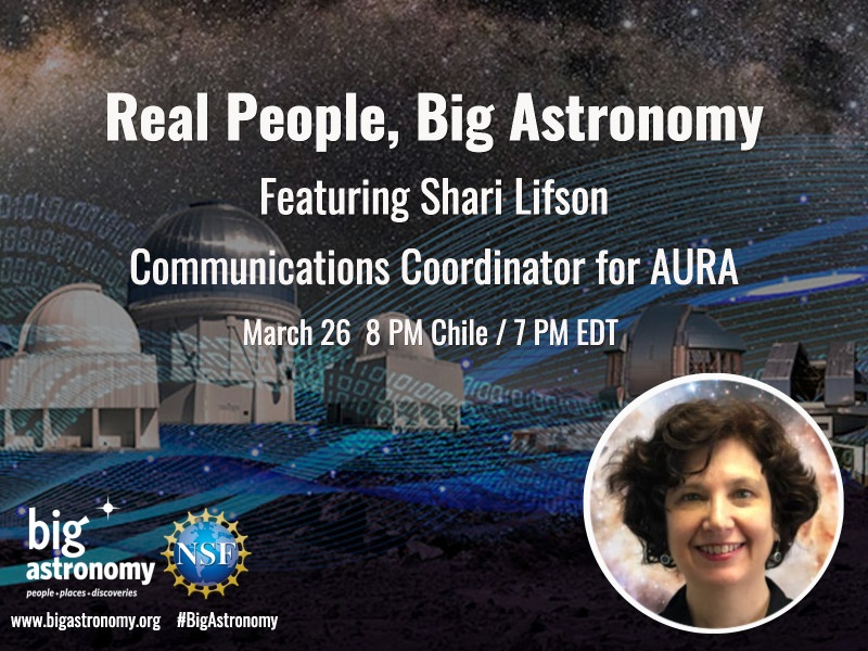 REPLAY – Real People, Big Astronomy: Shari Lifson